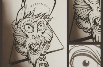 #wannado #monkeybizz #apetattoo #nackteaffen #comic #graffititattoo #zorg #santasangretattoo #köln