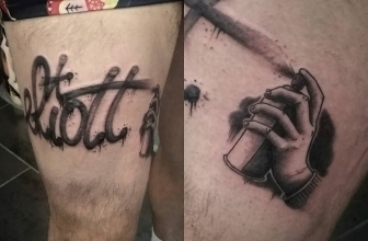 Hop! #tatouage #tattoo #fatcap #bombing #graffiti #spray #graffititattoo #lettering #painting