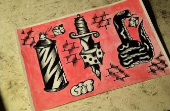 Wolne wzorki do pobrania. #flash #flashtattoo #oldschool #oldschooltattoo #oldschoolflash #trad #tradtattoo #traditionaltattoo #traditionalflash #graffiti #spray #graffititattoo #chwdp #acab #1312