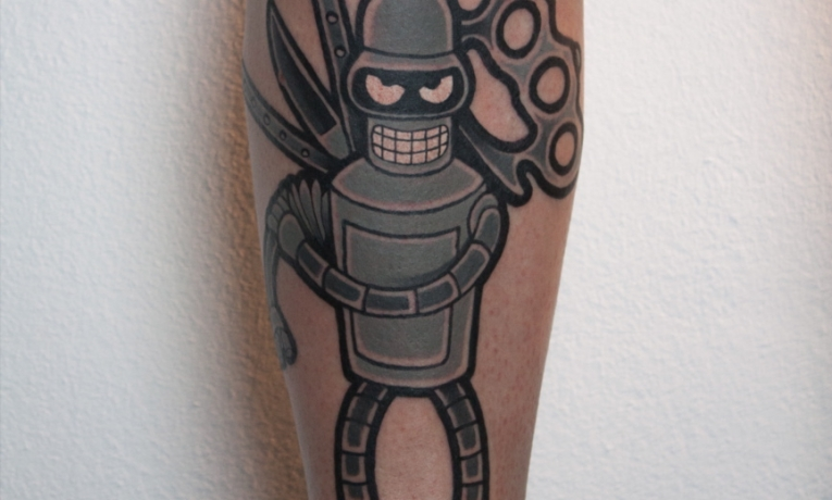 Bender Bending Rodriguez XD XD XD Thanks a lot !!!! ?. . #alterschwan #bender #futurama #butterflyknife # #brassknuckles $carlosohl #tattoo #tattoos #ink #inked #tattoosofinstagtam #Berlin #inkstagram #graffiti #comic #graffititattoo #comictattoo #futuratattoo #blackjacknhookers ⚓